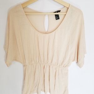 H & M pink shirt small cinched waist